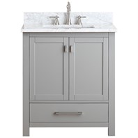 "Avanity Modero 30"" Single Bathroom Vanity - Chilled Gray MODERO-30-CG"