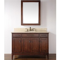 "Madison 49"" Single Bathroom Vanity Set - Tobacco"