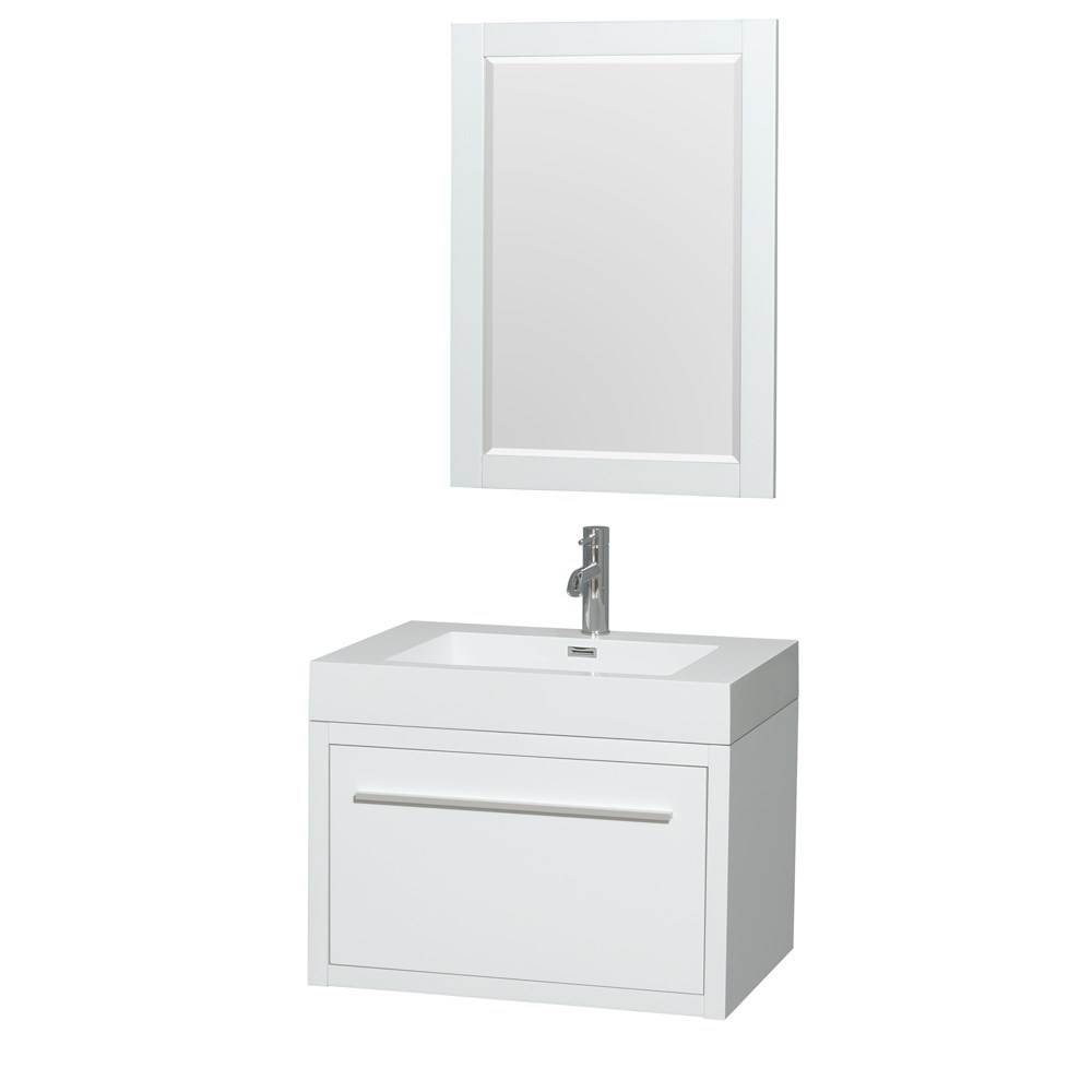 """Axa 30"""" Wall-Mounted Bathroom Vanity Set With Integrated Sink by Wyndham Collection - Glossy Whitenohtin Sale $899.00 SKU: WC-R4300-30-VAN-WHT :"""