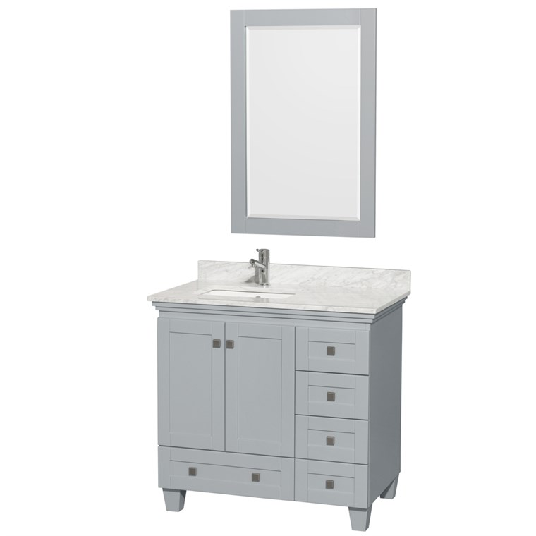 Acclaim 36 in. Single Bathroom Vanity by Wyndham Collection - Oyster Gray WC-CG8000-36-SGL-VAN-OYS-