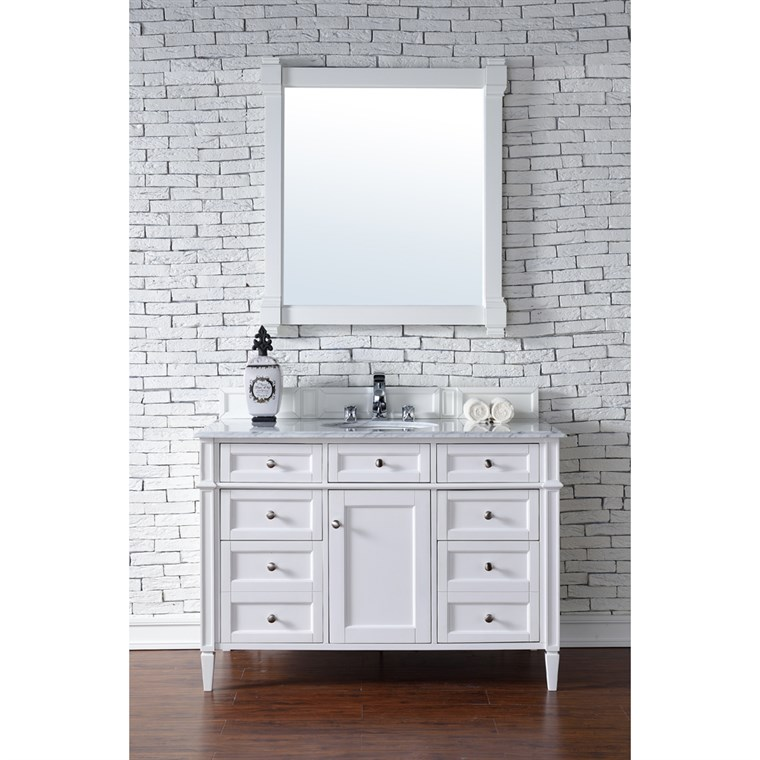 "James Martin 48"" Brittany Single Vanity - Cottage White 650-V48-CWH"