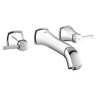 "Grohe Grandera 3-Hole Wall-Mounted Basin Mixer 1/2"" M-Size - Starlight Chrome GRO 20416000"