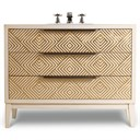 "Cole & Co. 46"" Designer Series Avery Hall Chest - Briallian Diamond White 11.22.275546.61"
