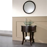 "Avanity Hemet 25"" Single Bathroom Vanity with Black Granite Countertop - Dark Walnut HEMET-VS25-DW"