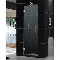 "Bath Authority DreamLine Unidoor Frameless Hinged Shower Door (23"") SHDR-20237210F"