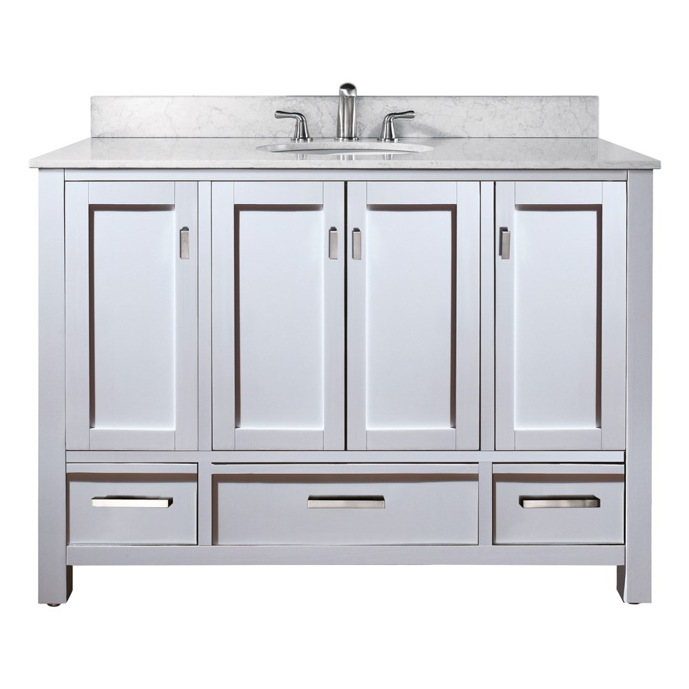 "Avanity Modero 48"" Bathroom Vanity - Whitenohtin Sale $986.00 SKU: MODERO-48-WT :"