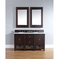 "James Martin 60"" Madison Double Vanity - Burnished Mahogany 800-V60D-BNM"