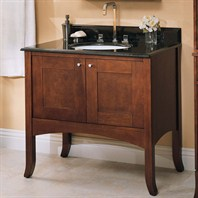 "Fairmont Designs 36"" Lifestyle Collection Shaker Vanity - Dark Cherry or Polar White"