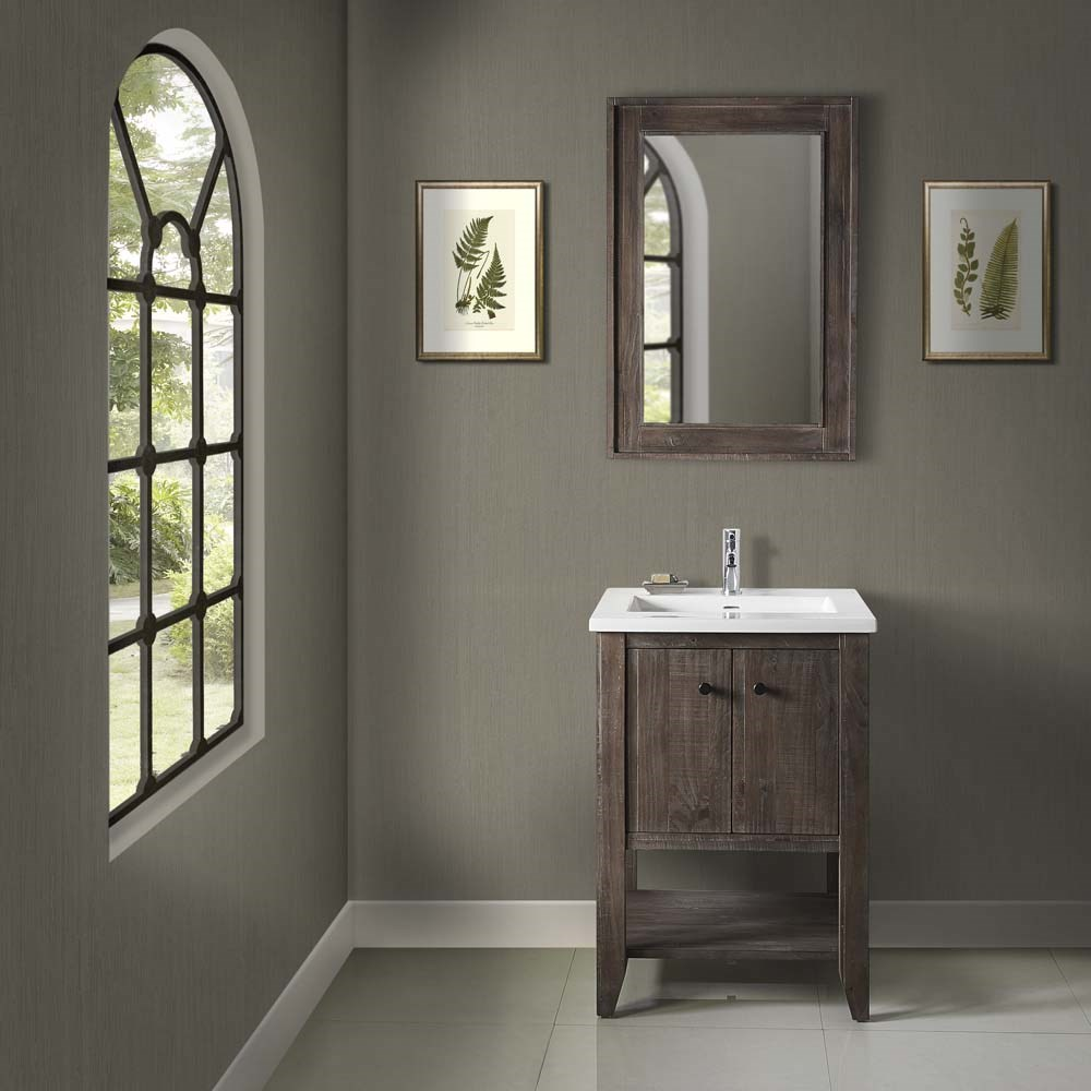 Fairmont Designs River View 24 Open Shelf Vanity For Integrated Top Coffee Bean Free Shipping Modern Bathroom