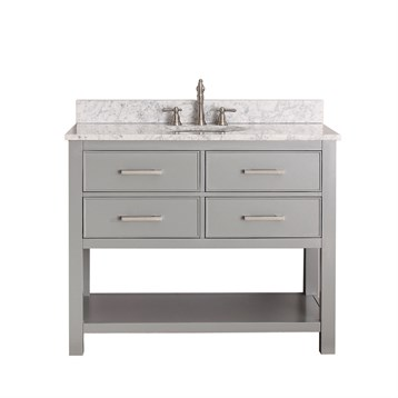 "Avanity Brooks 42"" Single Bathroom Vanity, Chilled Gray BROOKS-42-CG by Avanity"