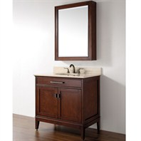 "Madison 37"" Single Bathroom Vanity Set - Tobacco"