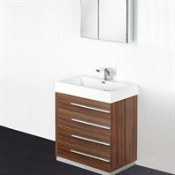 "Fresca Livello 30"" Walnut Modern Bathroom Vanity with Medicine Cabinet FVN8030GW"