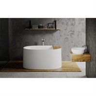 Aquatica Sophia-Wht Freestanding Solid Surface Bathtub - White Aquatica Sophia-Wht