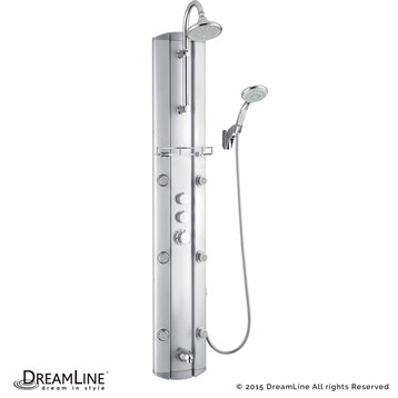 Bath Authority DreamLine Hydrotherapy Shower Column with Shower ...