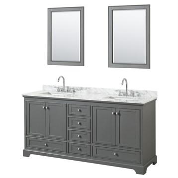 Deborah Double Bathroom Vanity By Wyndham Collection Dark Gray - Wyndham bathroom vanities