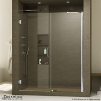 "Bath Authority DreamLine Unidoor Frameless Hinged Shower Door (47""- 55"") SHDR-20477210C"