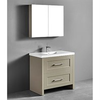 "Madeli Retro 36"" Bathroom Vanity for Integrated Basin - Cashmere B700-36-001-CM"