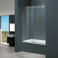 "Vigo Industries Frameless Adjustable Tub Door (56"" - 60"") VG06041-TUB-56-60"