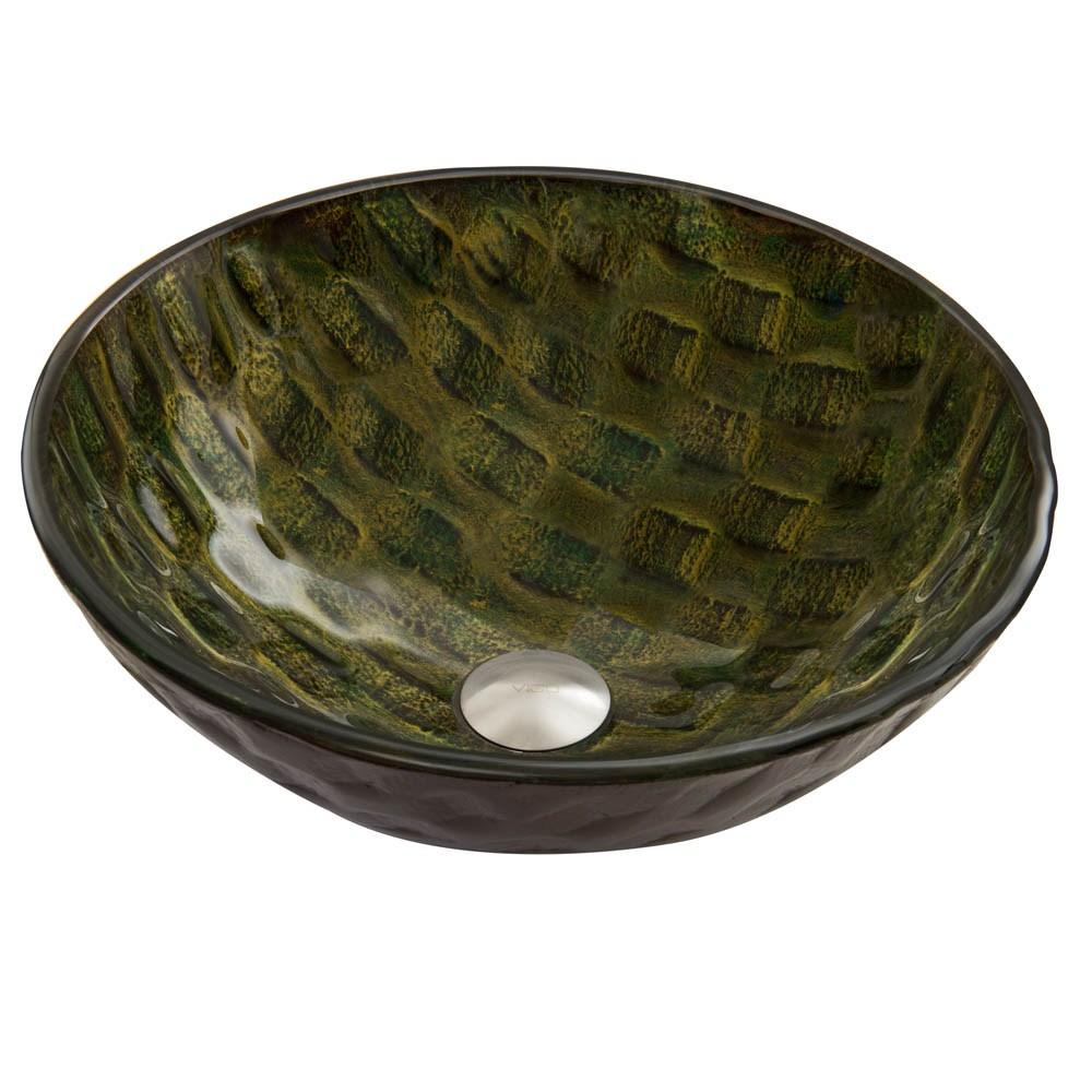 VIGO Amazonia Glass Vessel Sinknohtin Sale $109.90 SKU: VG07064 :