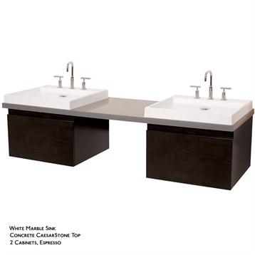 perfecta custom double wall mounted bathroom vanity with