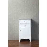 Stufurhome Norma 24 Inch Linen Cabinet - White HD-940LC