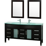 "Ashlyn 63"" Double Bathroom Vanity Set - Espresso OM-2105-63-ESP"