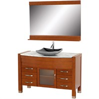 "Daytona 55"" Bathroom Vanity with Mirror - Cherry Finish A-W2109-55-T-CH"