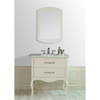 "Stufurhome 37"" Elizabeth Single Sink Vanity with Italian Carrara Marble Top - Cream GM-1201-37-CR"