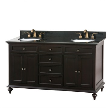 Double Bathroom Vanities on Avanity Merlot 60  Double Bathroom Vanity   Espresso   Free Shipping