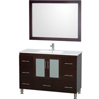 "Katy 48"" Single Bathroom Vanity Set by Wyndham Collection - Espresso WC-MS1002-48-ESP-"