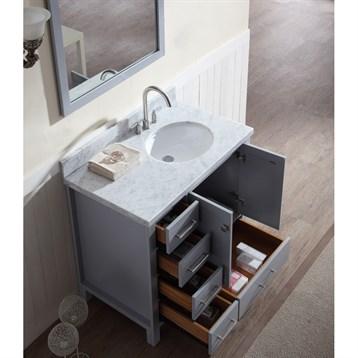 Vanity With Offset Sink : Ariel Cambridge 37
