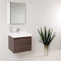 Fresca Nano Gray Oak Modern Bathroom Vanity with Medicine Cabinet FVN8006GO