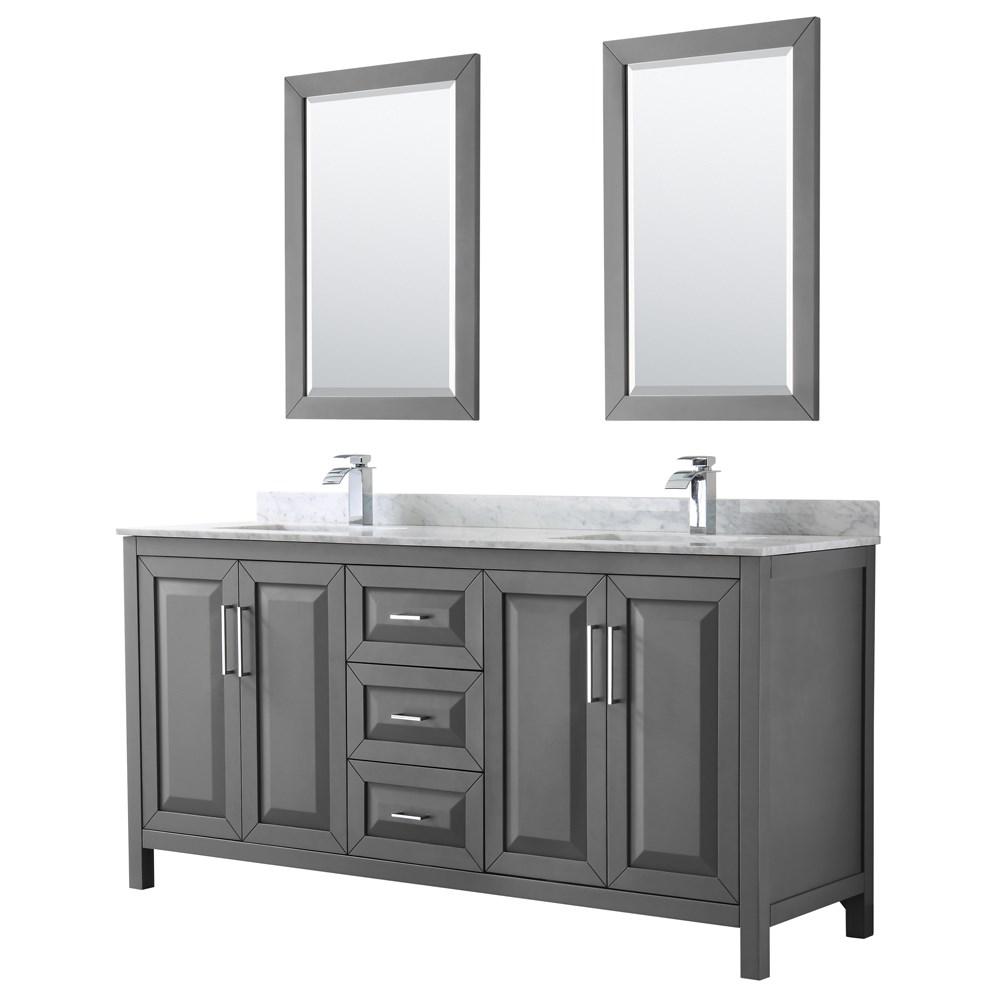 Magnificent Daria 72 Double Bathroom Vanity By Wyndham Collection Dark Gray Interior Design Ideas Inesswwsoteloinfo