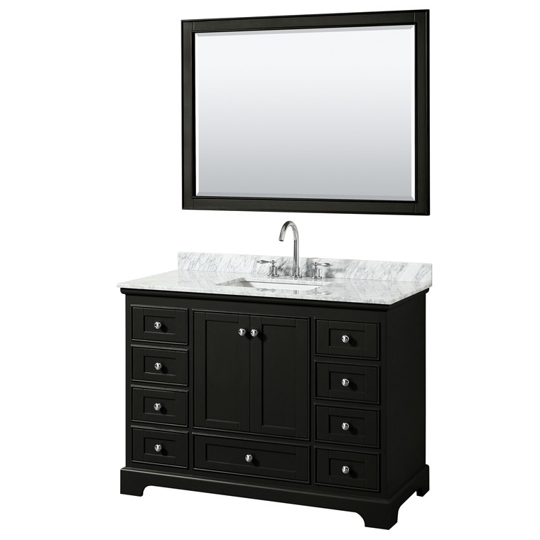 "Deborah 48"" Single Bathroom Vanity by Wyndham Collection - Dark Espresso WC-2020-48-SGL-VAN-DES"