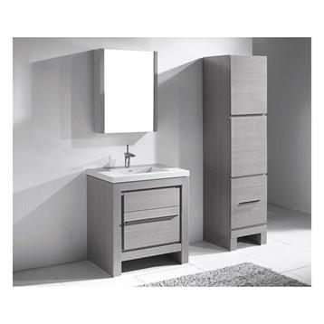 "Madeli Vicenza 30"" Bathroom Vanity For X-Stone, Ash Grey B999-30-001-AG-XSTONE by Madeli"