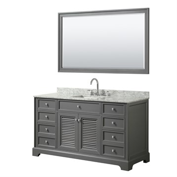 Tamara 60 Single Bathroom Vanity by Wyndham Collection - Dark Gray