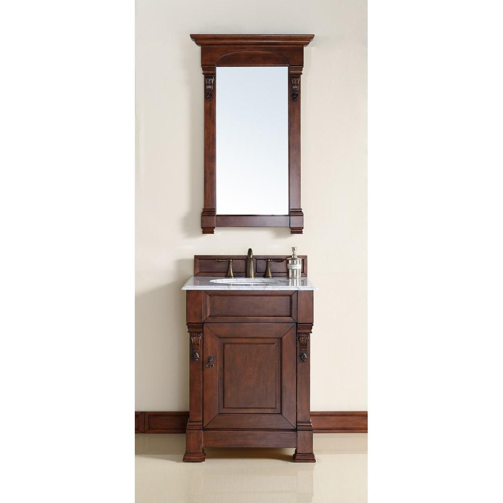 "James Martin 26"" Brookfield Single Vanity - Warm Cherrynohtin Sale $640.00 SKU: 147-114-V26-WCH :"