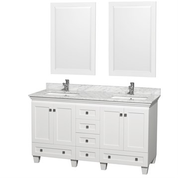 Acclaim 60 in. Double Bathroom Vanity by Wyndham Collection - White