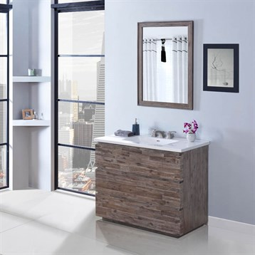 "Fairmont Designs Acacia 42"" Vanity for Integrated Top, Organic Brown 1522-V42- by Fairmont Designs"