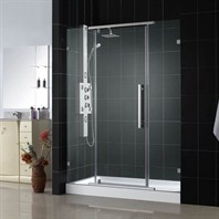 "Bath Authority DreamLine Vitreo Clear Glass Shower Door (46 1/8"")"