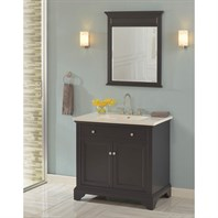 "Fairmont Designs Framingham 36"" Vanity for Integrated Top - Obsidian 1508-V36-"