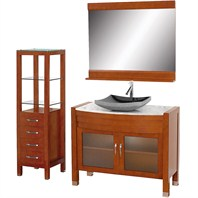"Daytona 42"" Bathroom Vanity Set - Cherry Finish A-W2109-42-T-CH-SET"