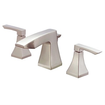 Danze Logan Square Two Handle Widespread Lavatory Faucet, Brushed Nickel D304136BN by Danze
