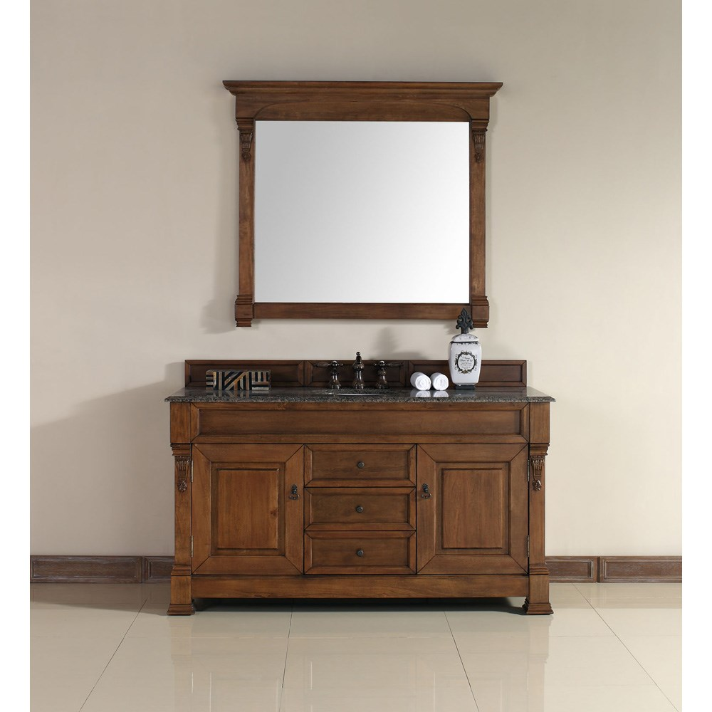 "James Martin 60"" Brookfield Single Vanity - Country Oak 