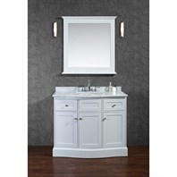 "Seacliff by Ariel Montauk 42"" Single Sink Vanity Set with Carrera White Marble Countertop - White SCMON42SWH"