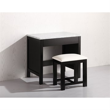 Design Element Make-up Table with Seat, Espresso MUT by Design Element