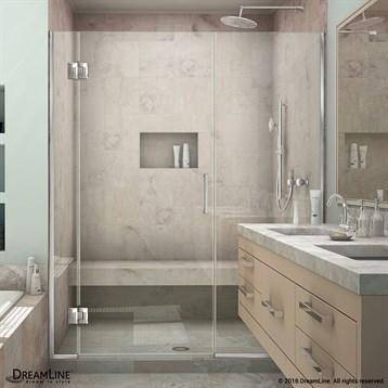 Bath Authority DreamLine UniDoor-X 35, 42-1/2 in. W x 72 in. H Hinged Shower Door D1230672 by Bath Authority DreamLine