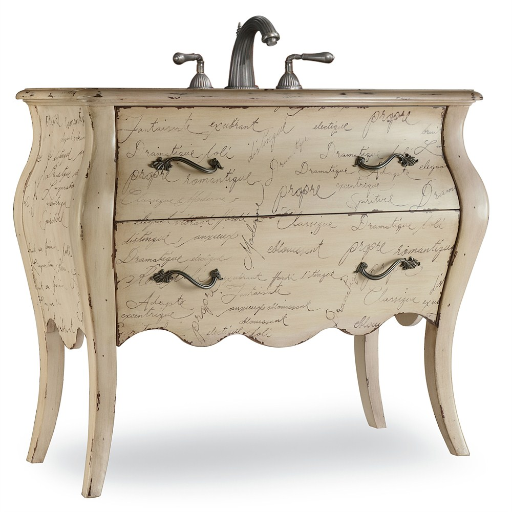 "Cole & Co. 41"" Designer Series Collection Romantique Vanity - Antiqued Parchmentnohtin Sale $2842.50 SKU: 11.22.275540.47 :"