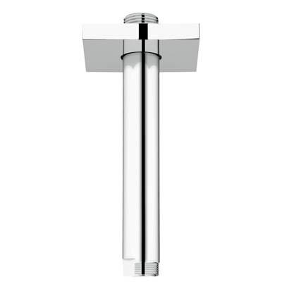 "Grohe Rainshower 6"" Ceiling Shower Arm with Square Flange - Starlight Chromenohtin Sale $80.99 SKU: GRO 27486000 :"