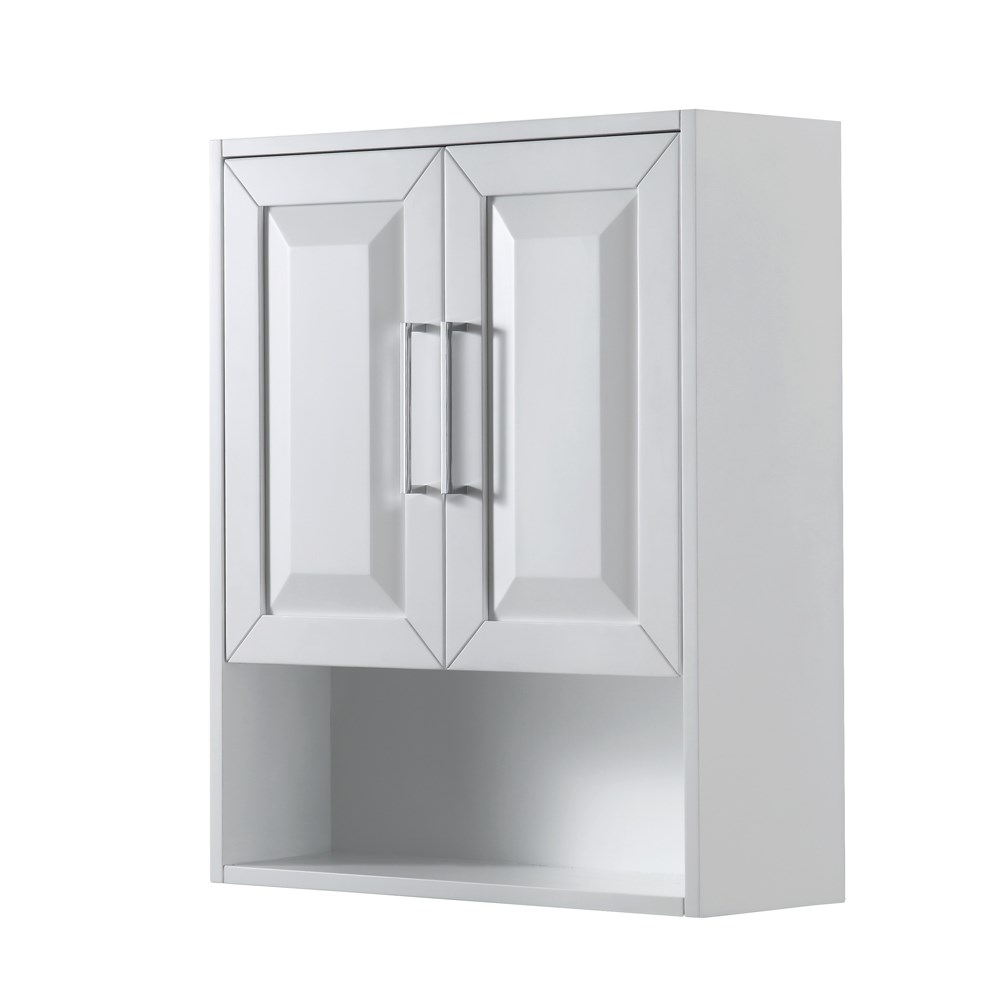 Daria Over Toilet Wall Cabinet By Wyndham Collection White